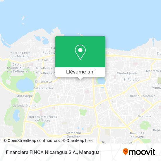 Mapa de Financiera FINCA Nicaragua S.A.