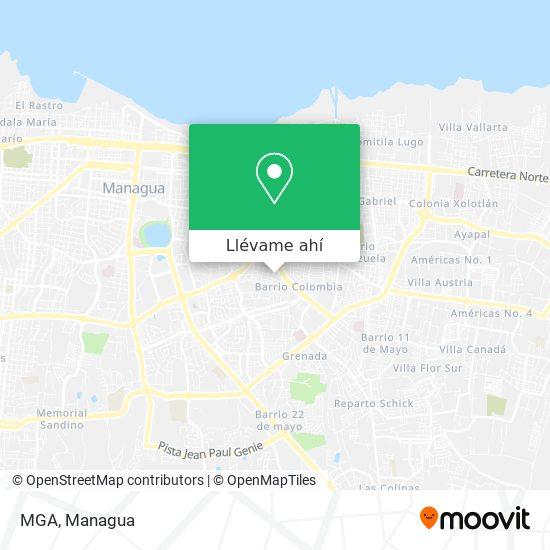 Mapa de MGA