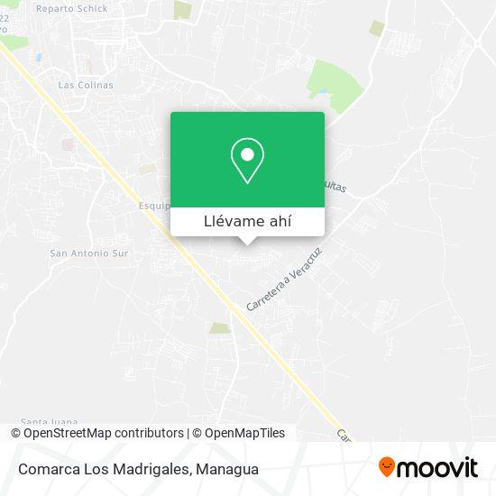 Mapa de Comarca Los Madrigales