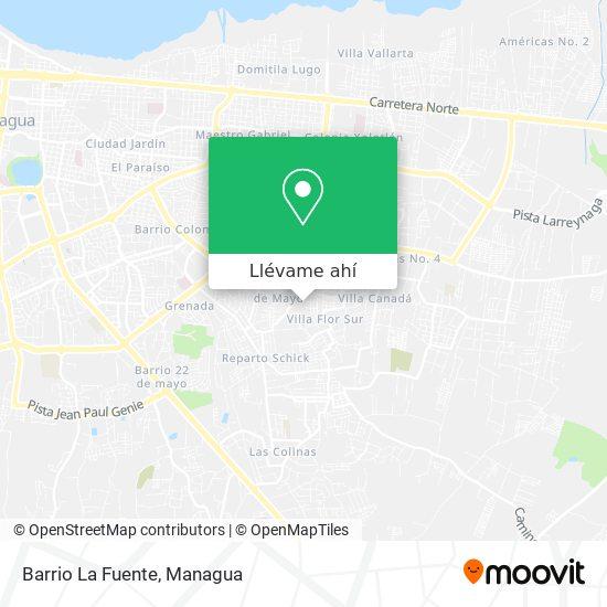 Mapa de Barrio La Fuente