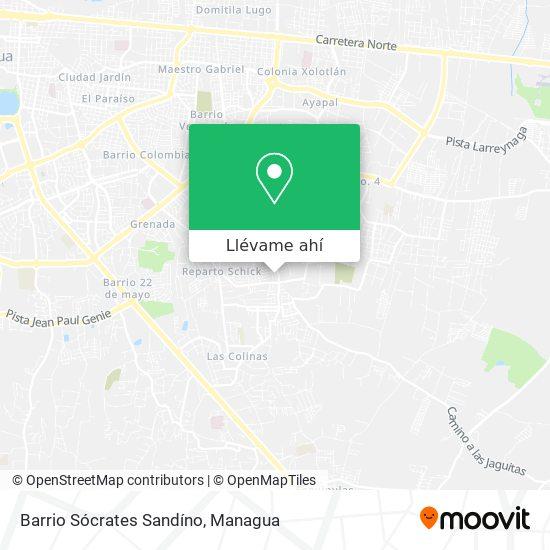 Mapa de Barrio Sócrates Sandíno