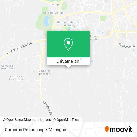 Mapa de Comarca Pochocuape