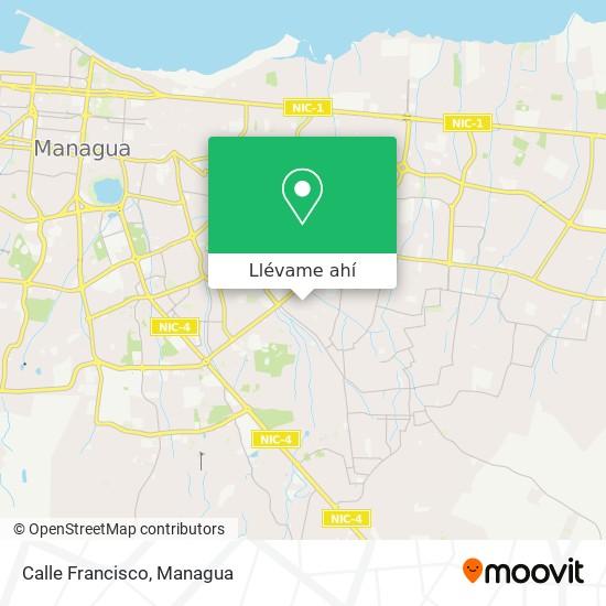 Mapa de Calle Francisco