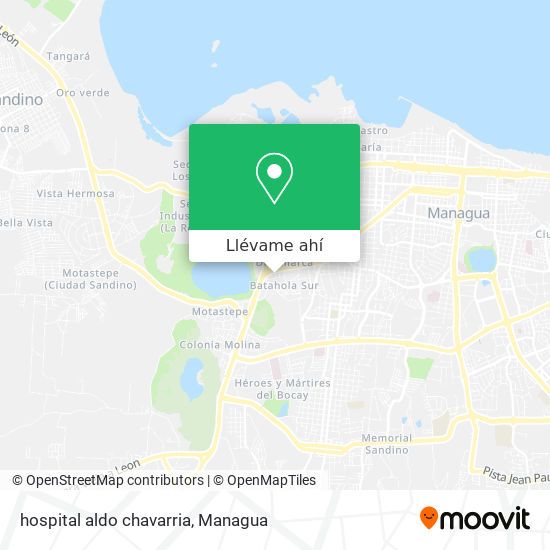Mapa de hospital aldo chavarria