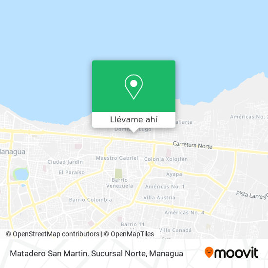 Mapa de Matadero San Martin. Sucursal Norte