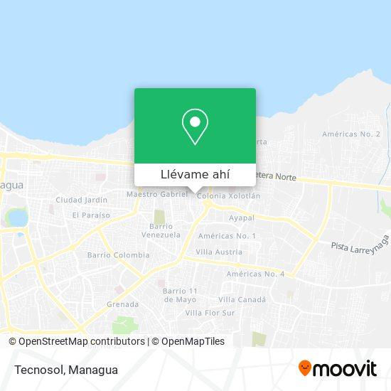 Mapa de Tecnosol
