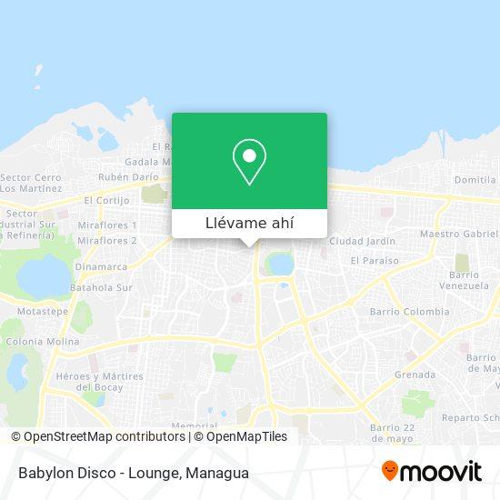 Mapa de Babylon Disco - Lounge