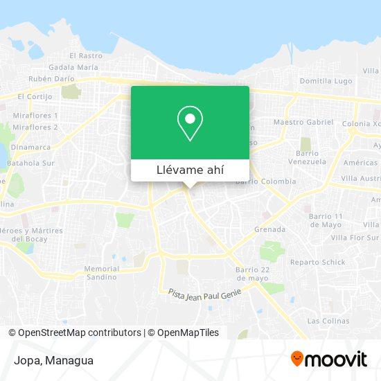 Mapa de Jopa