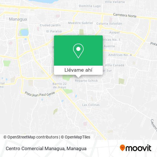 Mapa de Centro Comercial Managua