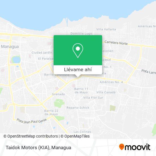 Mapa de Taidok Motors (KIA)