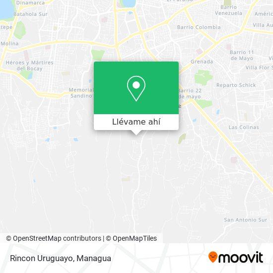 Mapa de Rincon Uruguayo