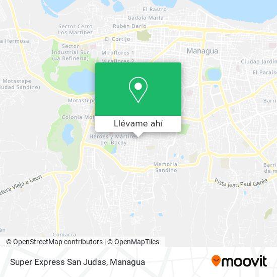 Mapa de Super Express San Judas