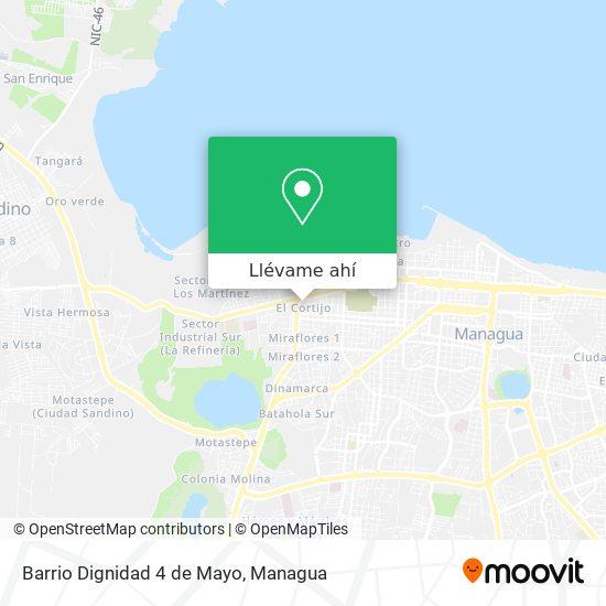 Mapa de Barrio Dignidad 4 de Mayo