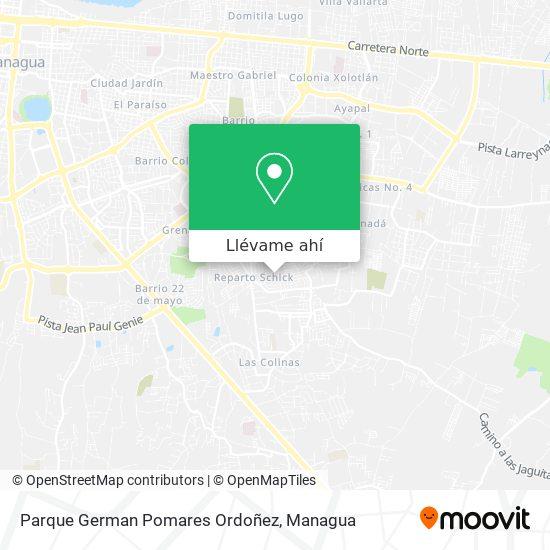 Mapa de Parque German Pomares Ordoñez