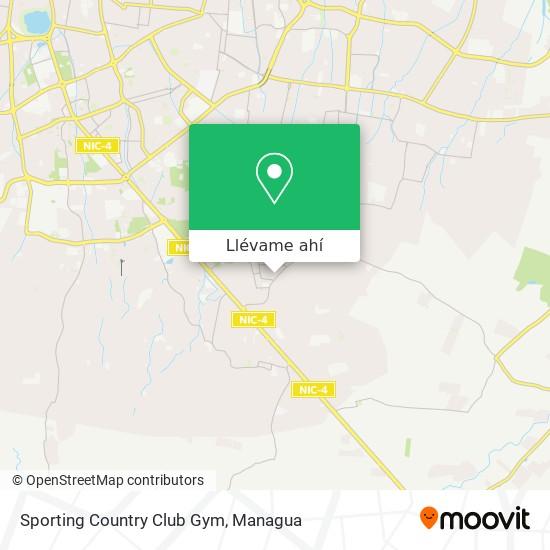 Mapa de Sporting Country Club Gym