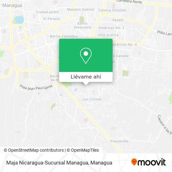 Mapa de Maja Nicaragua-Sucursal Managua