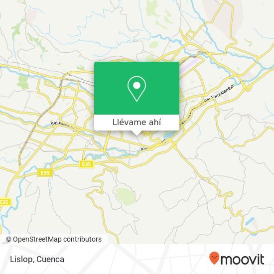 Mapa de Lislop