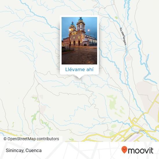 Mapa de Sinincay