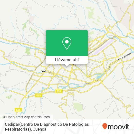 Mapa de Cedipar(Centro De Diagnóstico De Patologías Respiratorias)