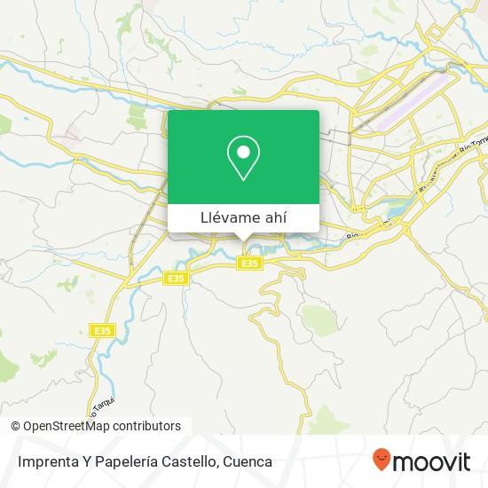 Mapa de Imprenta Y Papelería Castello