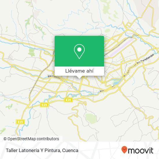 Mapa de Taller Latonería Y Pintura