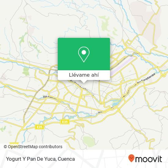 Mapa de Yogurt Y Pan De Yuca