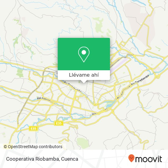 Mapa de Cooperativa Riobamba