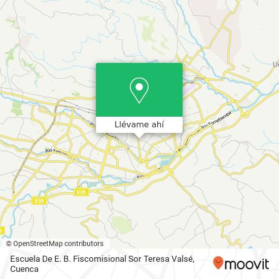 Mapa de Escuela De E. B. Fiscomisional Sor Teresa Valsé