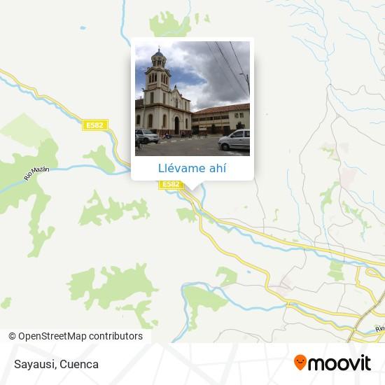 Mapa de Sayausi