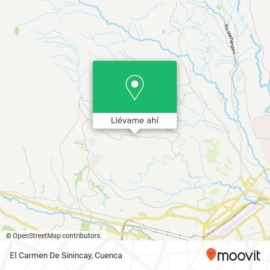 Mapa de El Carmen De Sinincay