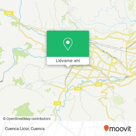 Mapa de Cuenca Licor