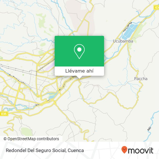 Mapa de Redondel Del Seguro Social