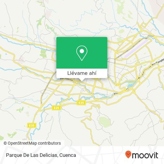 Mapa de Parque De Las Delicias