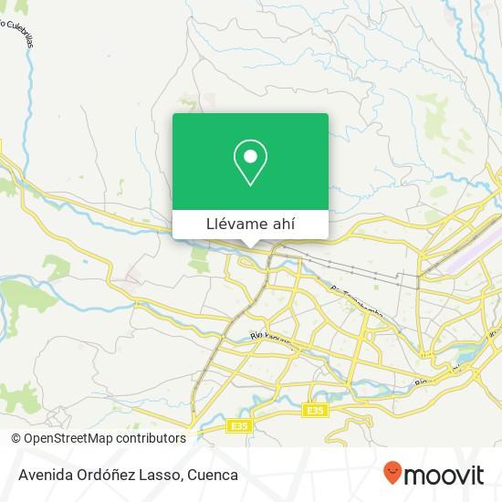 Mapa de Avenida Ordóñez Lasso