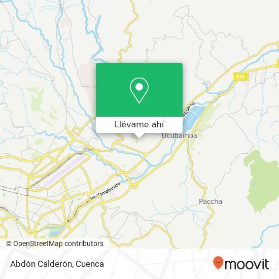 Mapa de Abdón Calderón