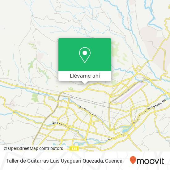 Mapa de Taller de Guitarras Luis Uyaguari Quezada