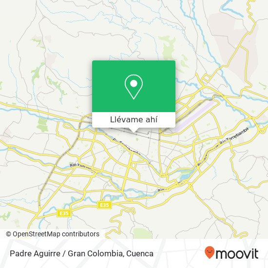 Mapa de Padre Aguirre / Gran Colombia
