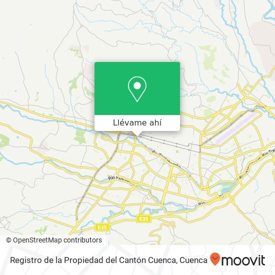 Mapa de Registro de la Propiedad del Cantón Cuenca