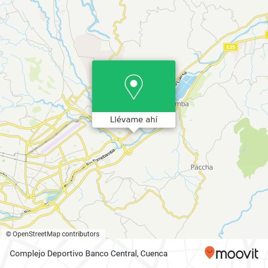 Mapa de Complejo Deportivo Banco Central