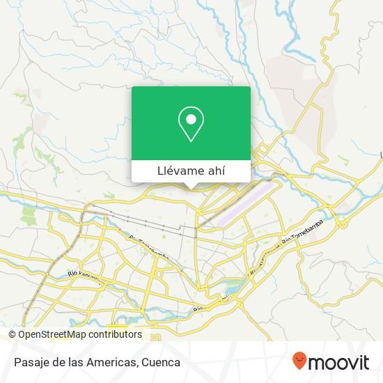 Mapa de Pasaje de las Americas