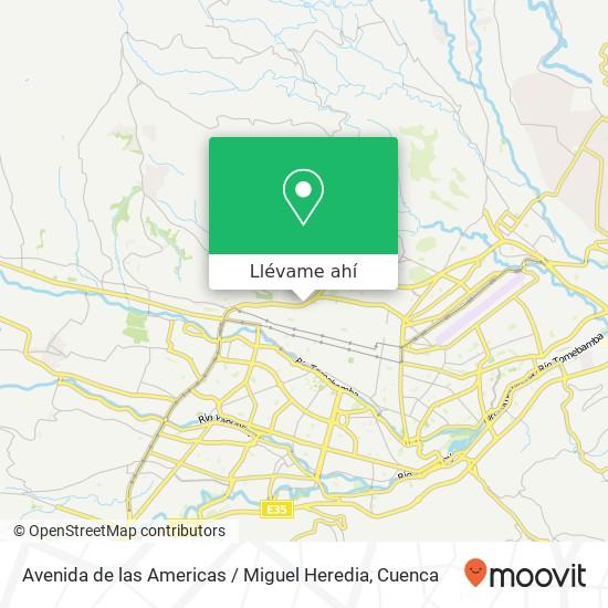 Mapa de Avenida de las Americas / Miguel Heredia