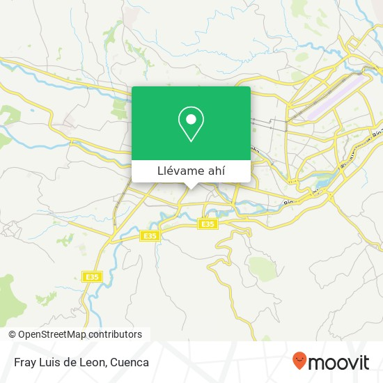 Mapa de Fray Luis de Leon