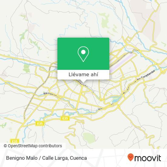 Mapa de Benigno Malo / Calle Larga