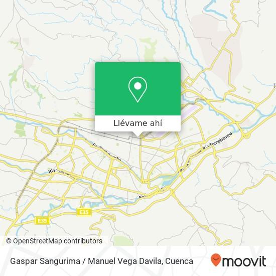 Mapa de Gaspar Sangurima / Manuel Vega Davila