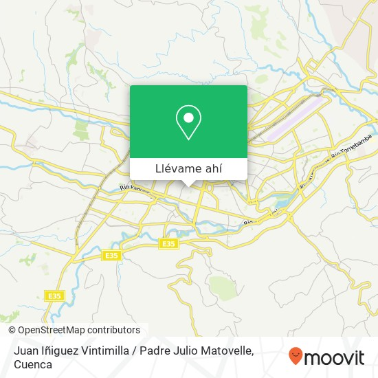 Mapa de Juan Iñiguez Vintimilla / Padre Julio Matovelle
