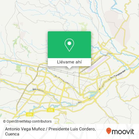 Mapa de Antonio Vega Muñoz / Presidente Luis Cordero