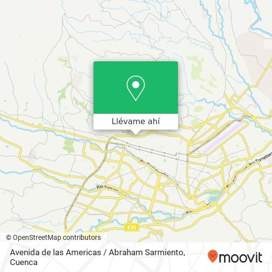 Mapa de Avenida de las Americas / Abraham Sarmiento
