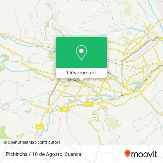 Mapa de Pichincha / 10 de Agosto