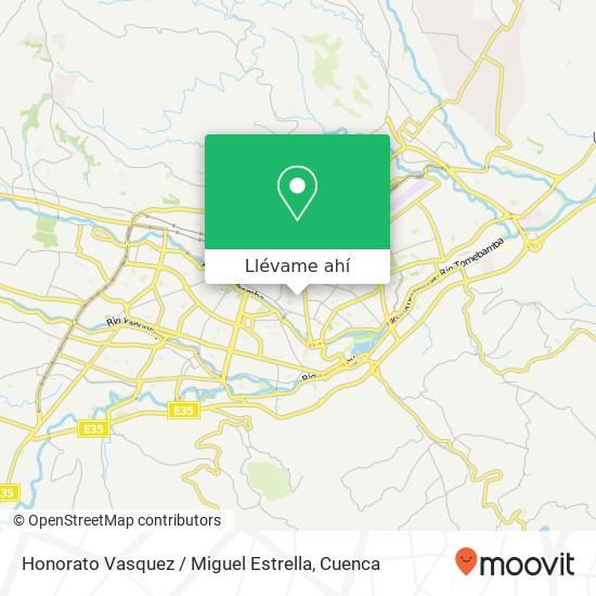 Mapa de Honorato Vasquez / Miguel Estrella