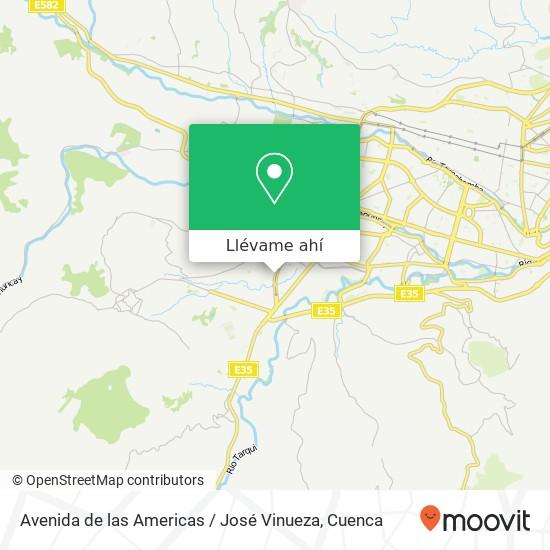Mapa de Avenida de las Americas / José Vinueza